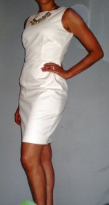 little white sheath dress New Look 6123