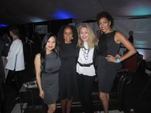 Posing with some of my fashion friends at FashioNXT fashion show in POrtland Oregon
