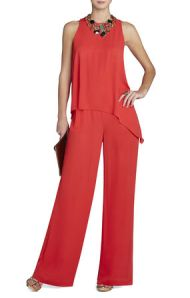 "style inspiration for the top in orange BCBG ""Hadli"" jumpsuit $248"