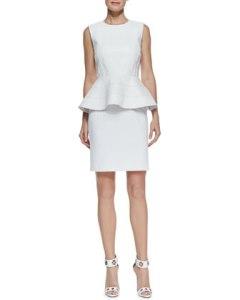 faux leather bodice peplum dress $595