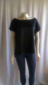 Silk charmeuse t-shirt top