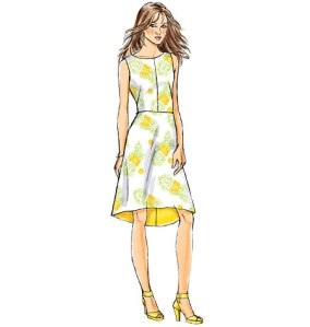 Pattern illustration for Butterick 6016 view B