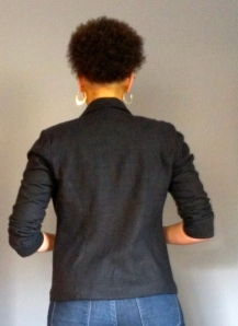 Back view of jacket