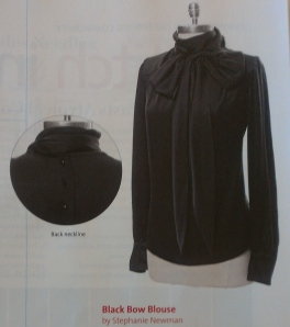 Love, Stephanie silk bow blouse page 81 issue 174