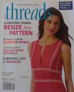 Cover of the September 2014 issue that features my blouse on page