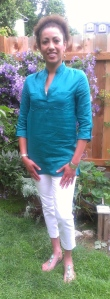 Jade Green Silk/Linen Tunic