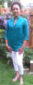 Silk/Linen tunic top