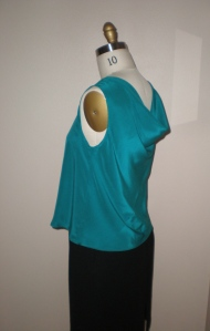 Side back to top showing cowl drape
