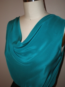 The top has a lovely drape, can be work frontwards or backwards, and is a beautiful color