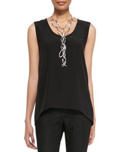 Black silk tank Eileen Fisher