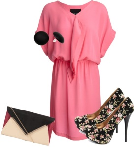 pink blouson dress from Cynthia Rowley