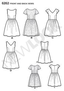 New Look 6262 line drawings