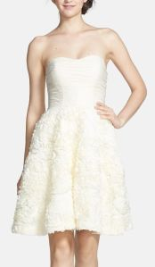 'Flawra' Rosette Detail Fit & Flare Dress