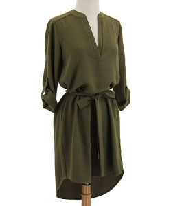 Open placket dress Zulily