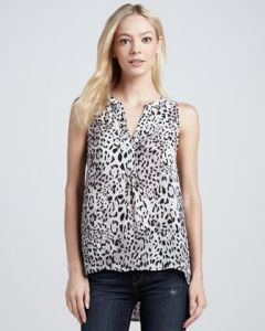 Joie printed silk tank top