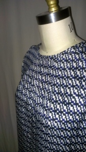 Front neck pleat detail