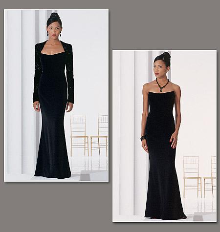 V2237 Badgley Mischka gown and bolero