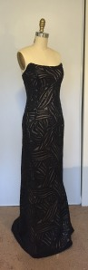 black sequin gown from Vogue 2237