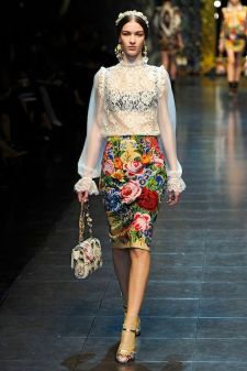 D&G Floral Pencil Skirt