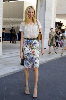 Floral Pencil Skirt A