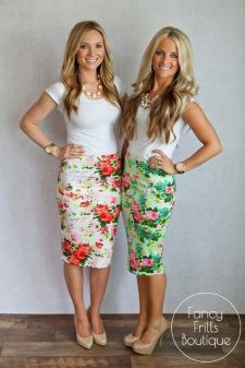 Floral Pencil Skirts