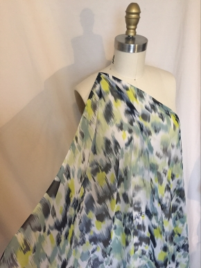 printed silk charmeuse