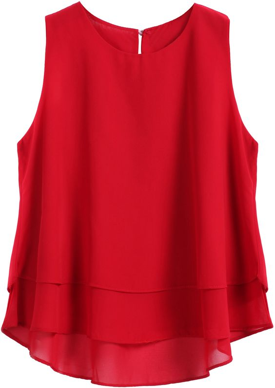 Red overlay top