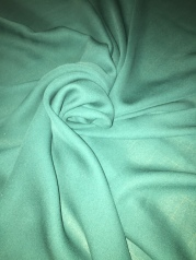 teal silk georgette