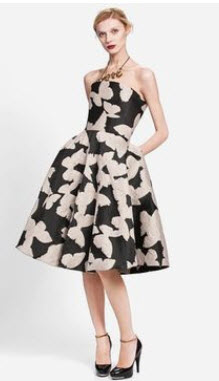 Linvin Strapless Floral Dress