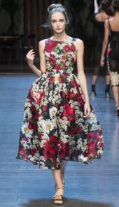Dolce Gabana Floral Dress