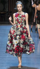 Dolce Gabana Floral Dress