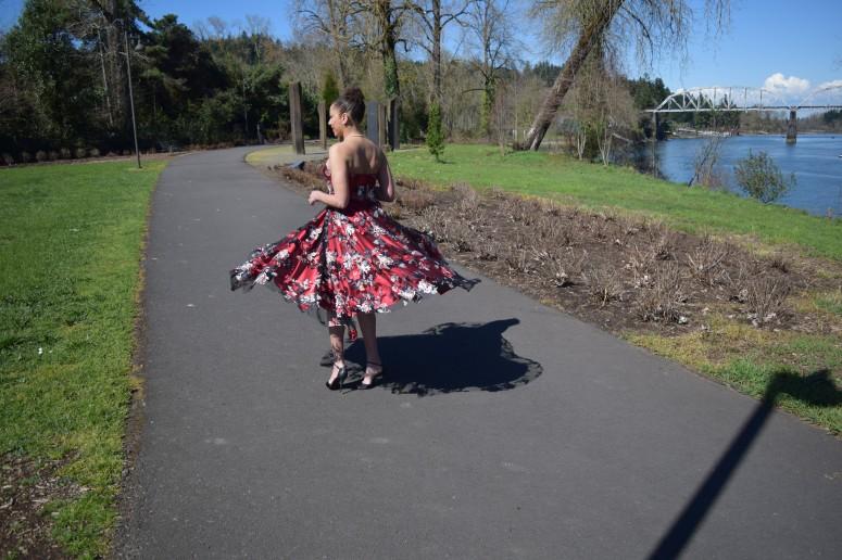 V8766 Red Dress 13