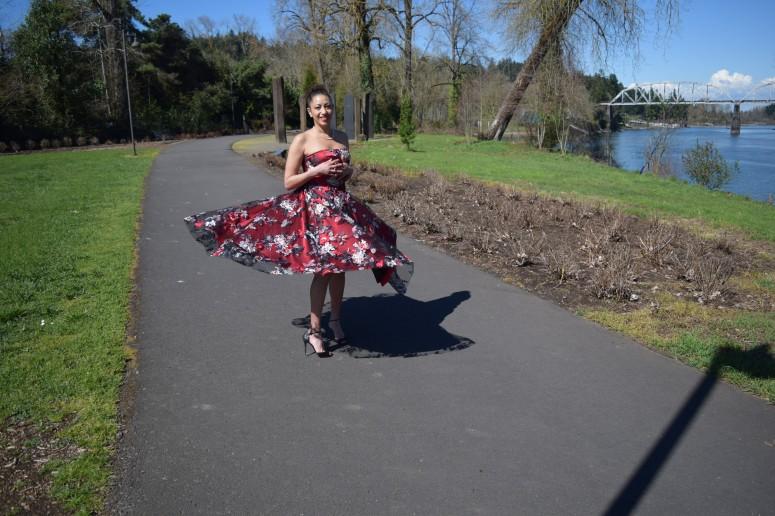 V8766 Red Dress 14
