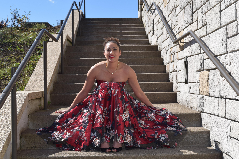 V8766 Red Dress 7