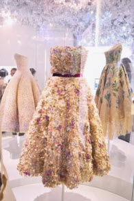 Vintage CD dresses on exhibit