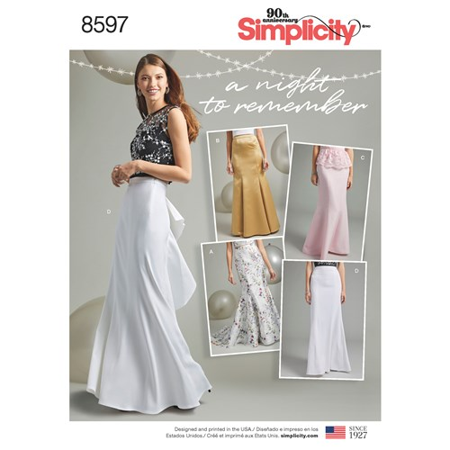 simplicity-mermaid-skirt-pattern-8597-envelope-front